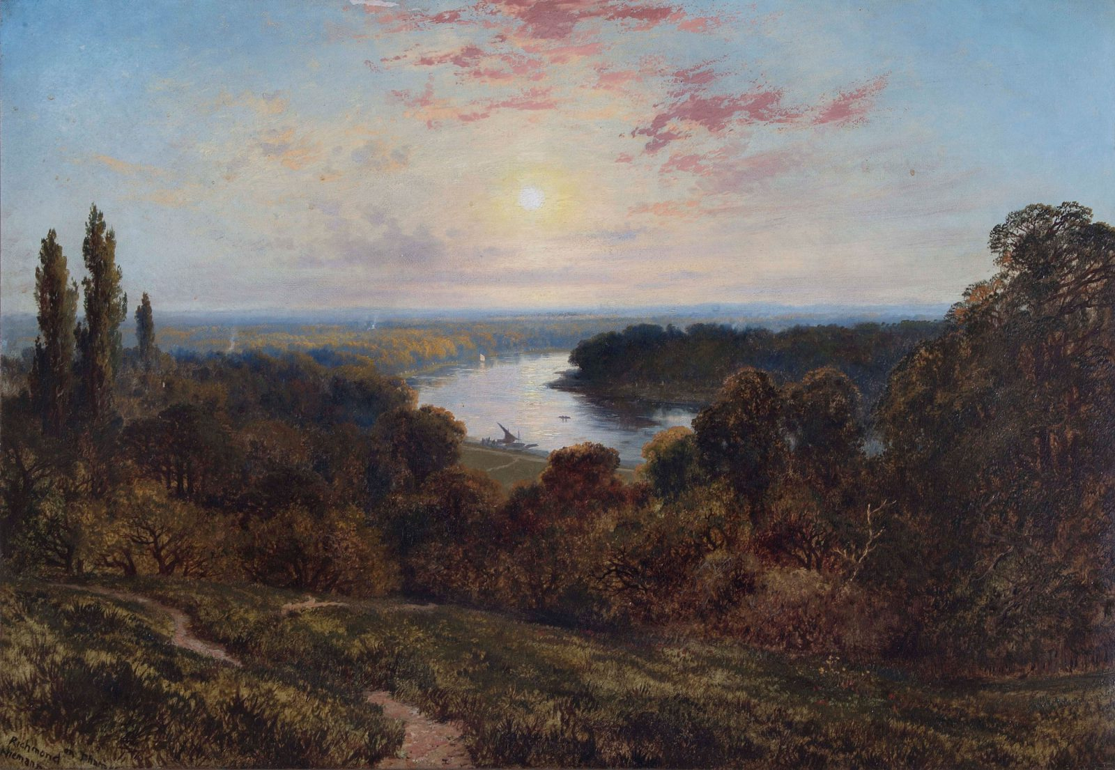 Edmund John Niemann, View from Richmond Hill, 1830, Oil on canvas, Richmond Borough Art Collection