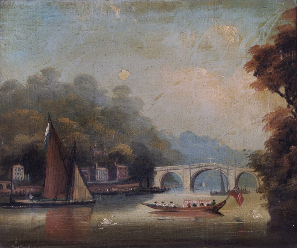 Richmond Bridge looking towards Twickenham