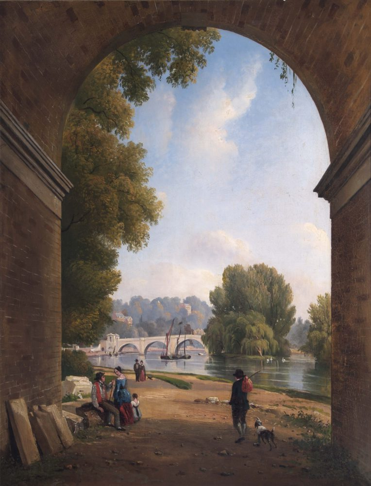Richmond Bridge from beneath the Railway Bridge