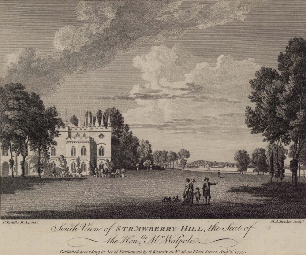 South View of Strawberry Hill, the seat of the Honble Mr Walpole