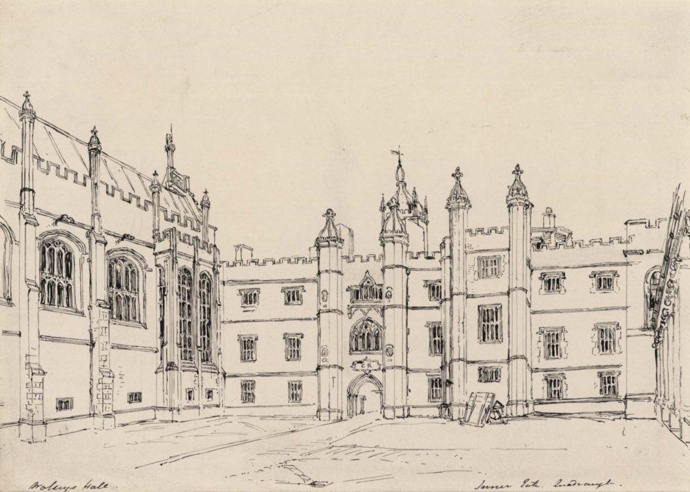 Hampton Court Palace. Quadrangle and Entrance Gate, called Wolsey's Gateway
