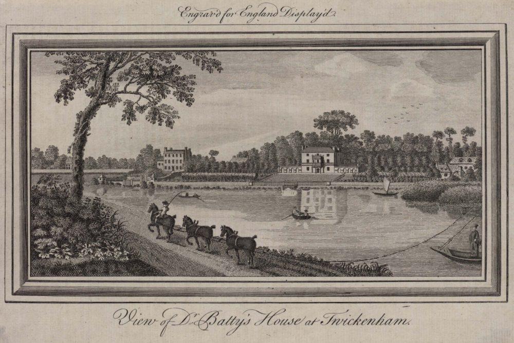 View of Dr Batty's House at Twickenham