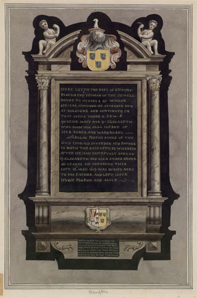 Monument in Hampton Church
