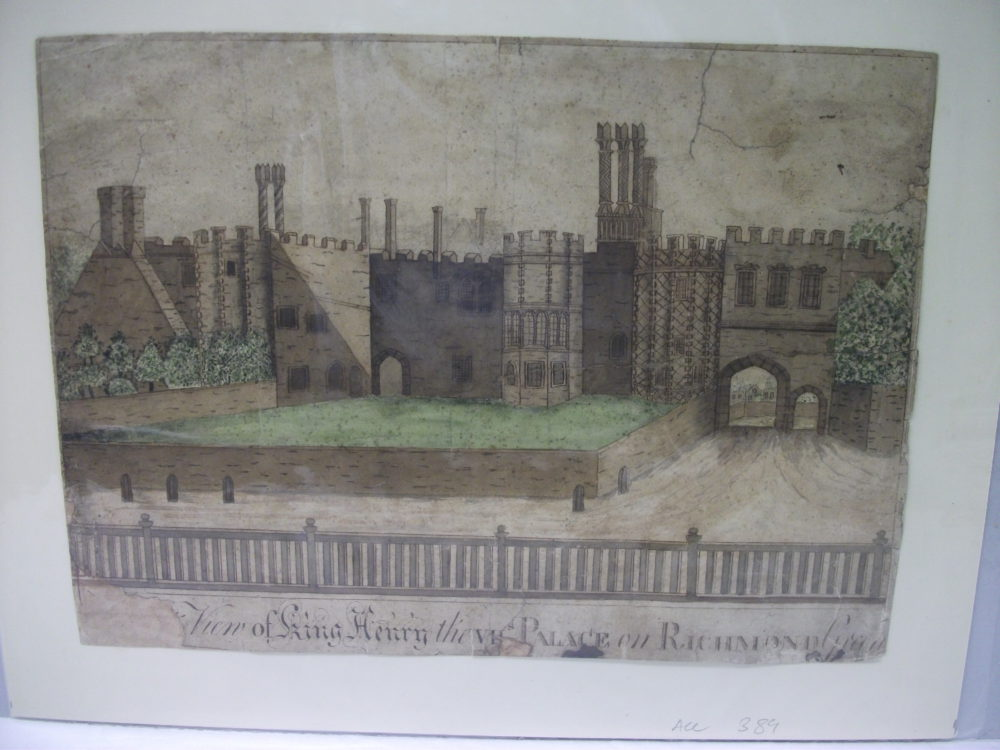 View of King Henry the VII's Palace on Richmond Green