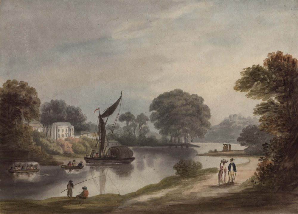 on the Thames above Richmond