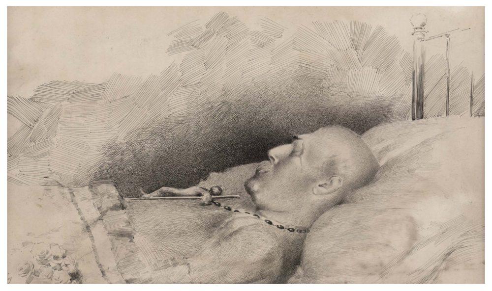 Sir Richard Burton on his deathbed