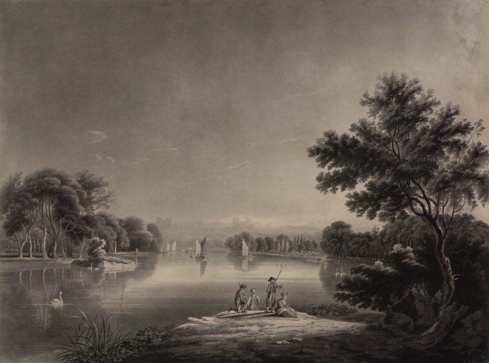 View of Richmond Hill from Twickenham Ferry