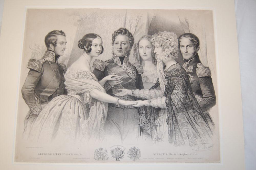 Louis Philippe during his visit to Queen Victoria of Britain