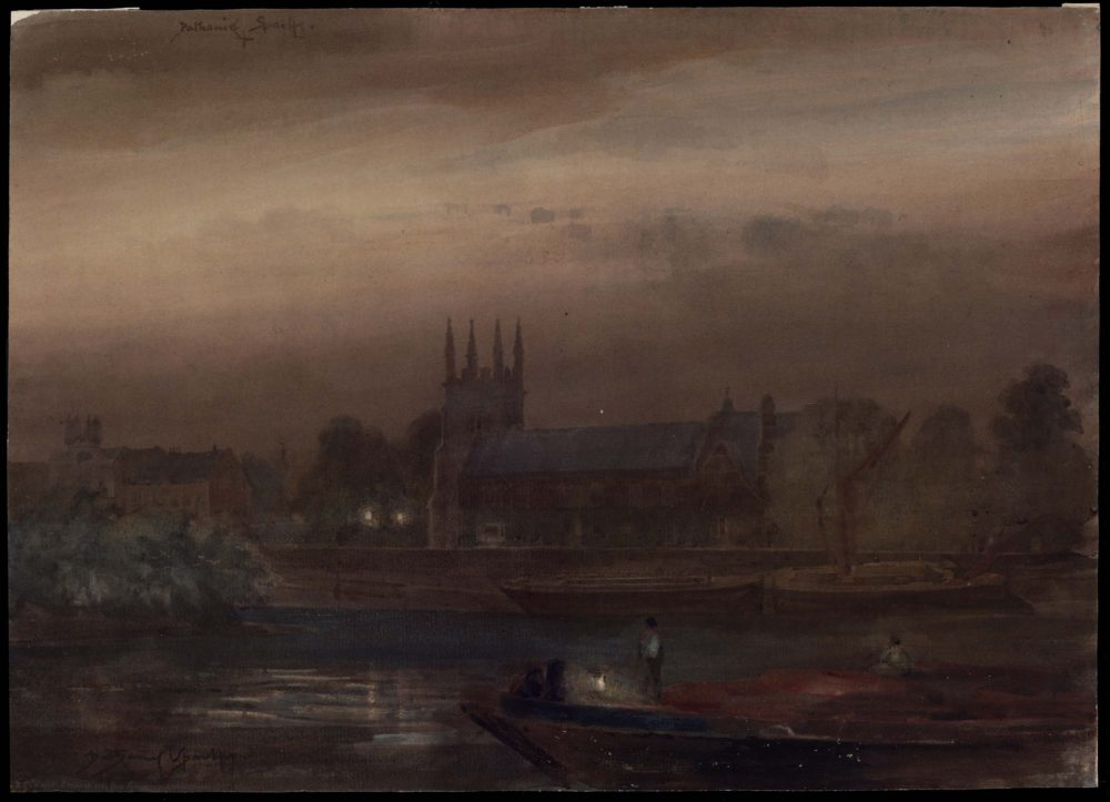 Nocturne. Isleworth Church by Night