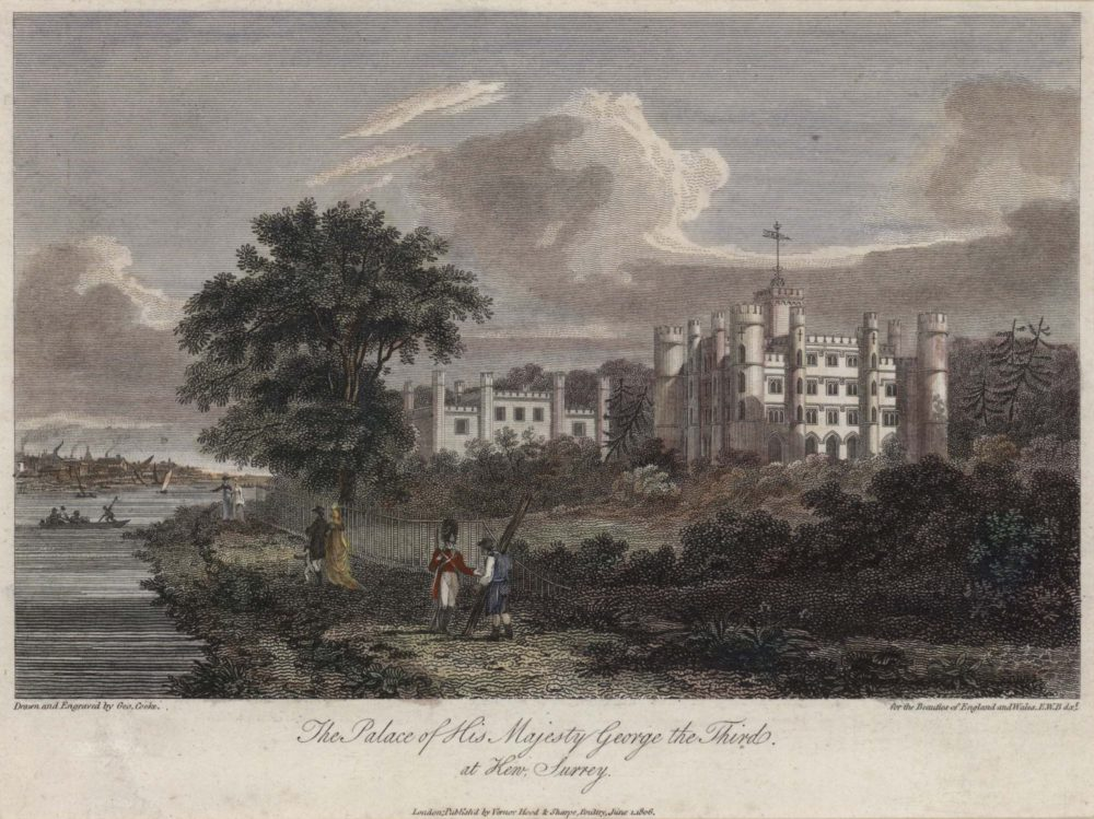 The Palace of His Majesty George the Third, at Kew Surrey