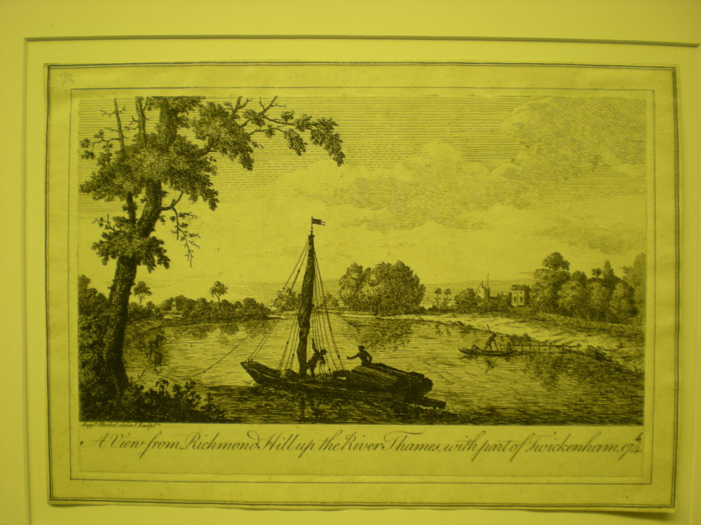 View from Richmond Hill up the River Thames with part of Twickenham 1744