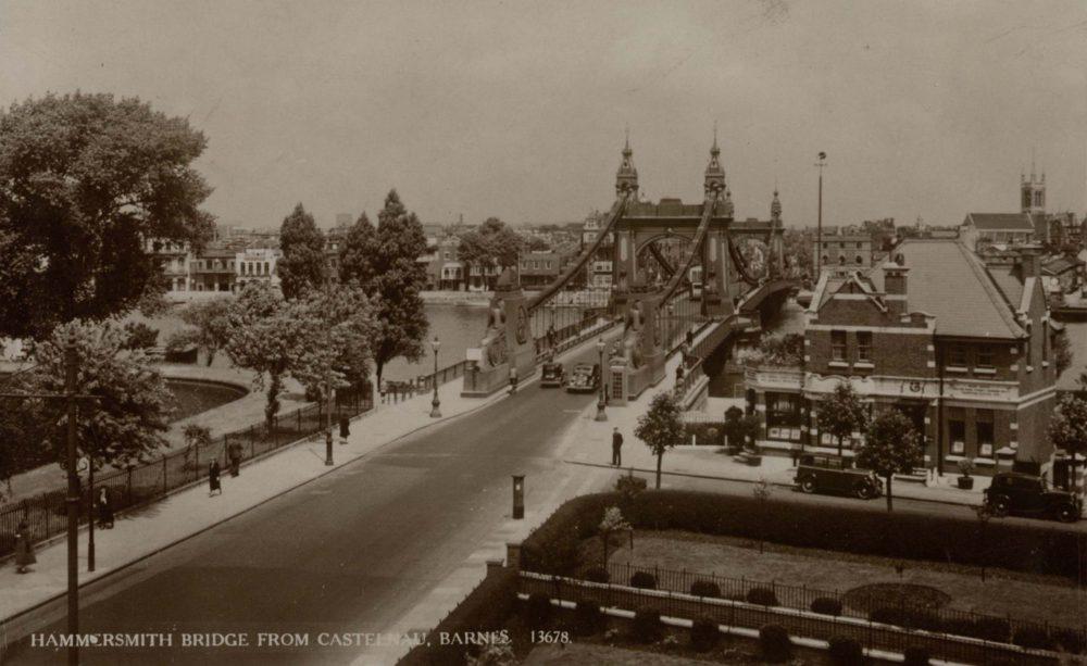 Hammersmith Bridge from Castelnau, Barnes