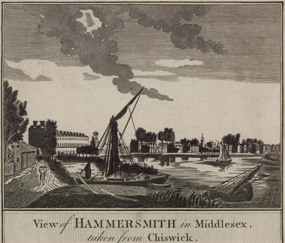 View of Hammersmith in Middlesex taken from Chiswick