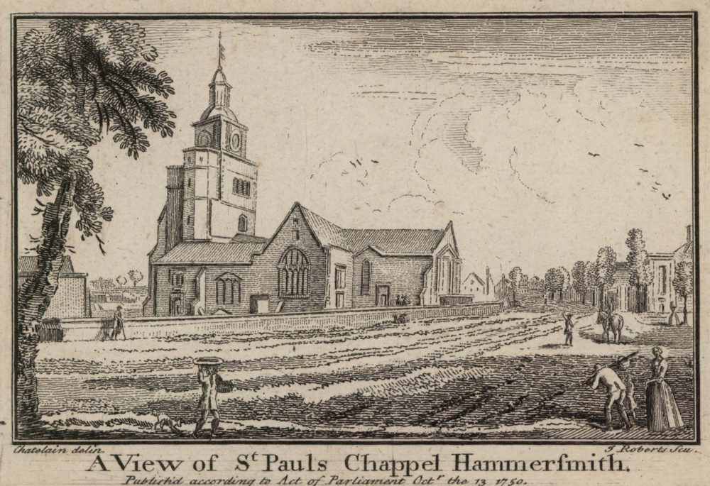 A View of St Paul's Chappel Hammersmith