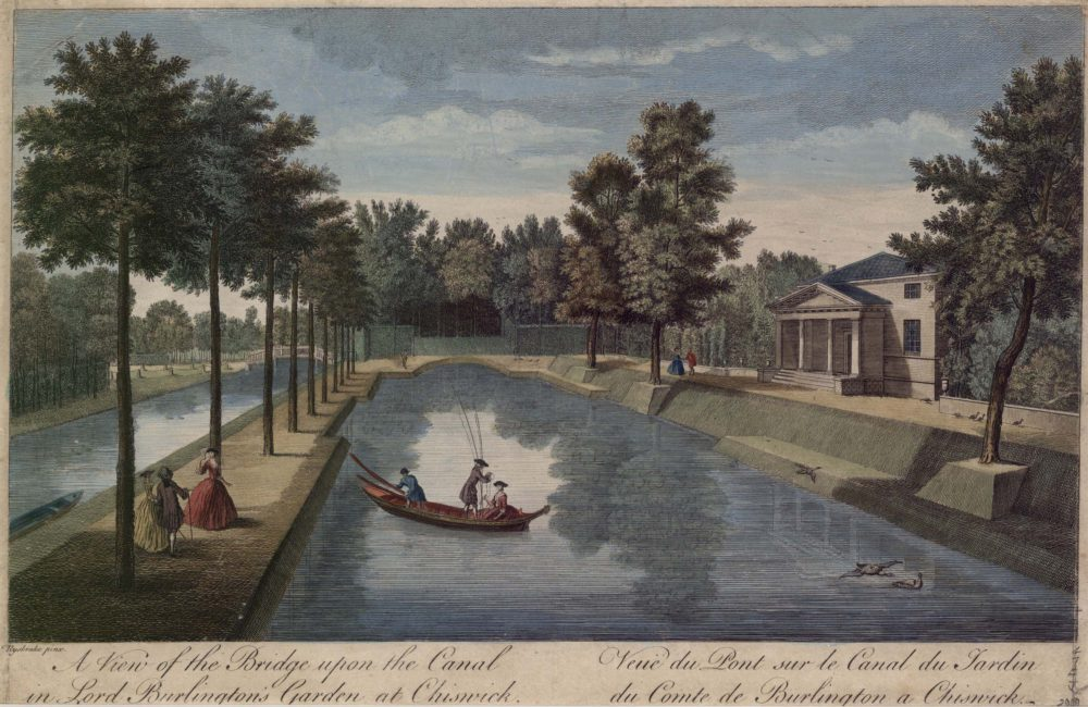 A View of the Bridge upon the Canal in Lord Burlington's Garden at Chiswick