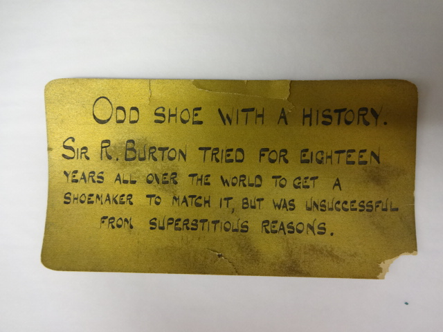 Odd Shoe With a History
