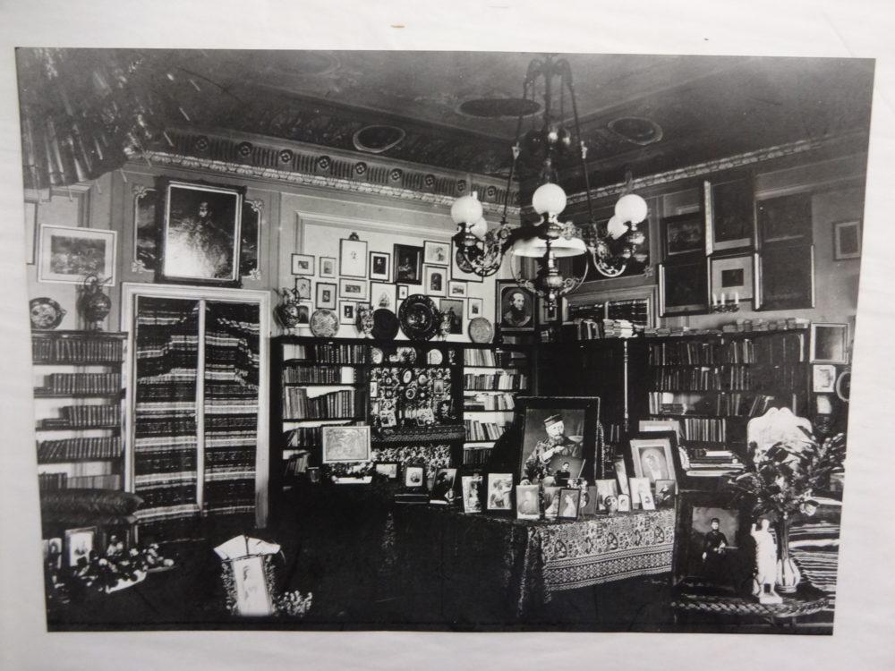 A corner of the Burton's drawing room
