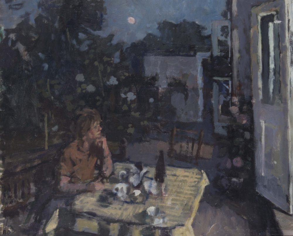 The Artist's Wife in his Garden at Kew (evening)