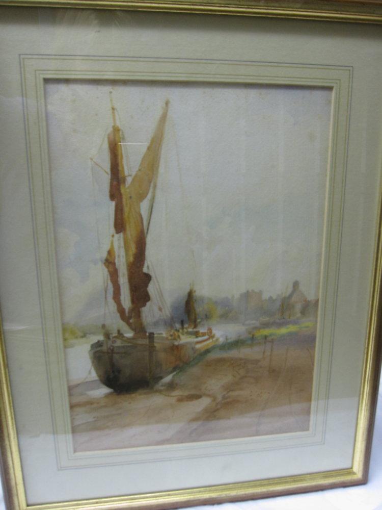 Thames Barge at Mortlake