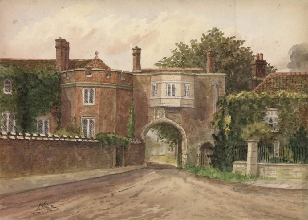 Old palace, Richmond, Surrey from the green, 1926