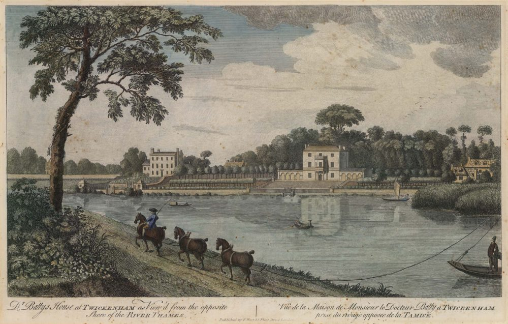 Dr Batty's House at Twickenham as View'd from the opposite Shore of the River Thames
