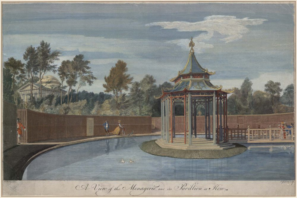 A View of the Menagerie and its Pavillion, in the Royal Gardens at Kew