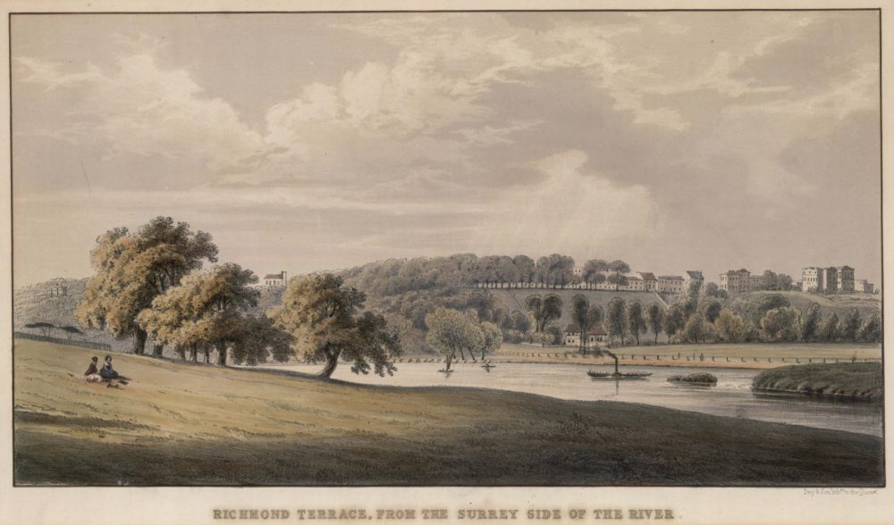 Richmond Terrace from the Surrey side of the River