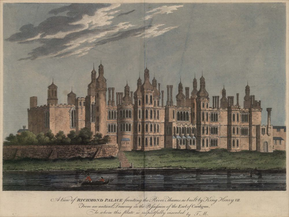 A View of Richmond Palace fronting the River Thames