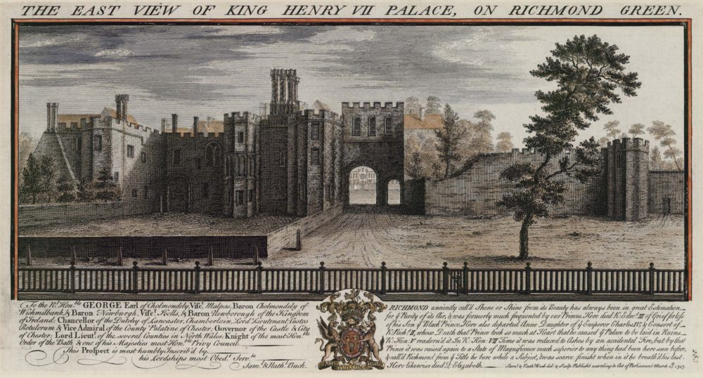 The East View of King Henry VII Palace on Richmond Green