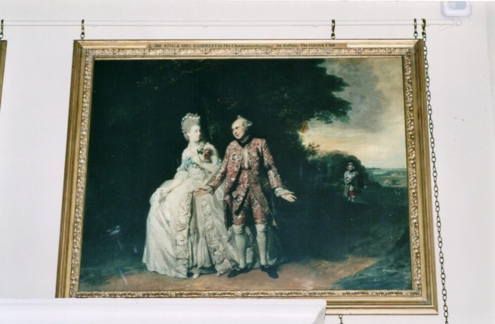Mr & Mrs Baddely in The Clandestine Marriage
