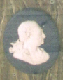 Ceramic medallion of David Garrick