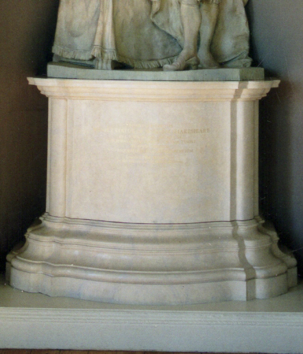 Scagliola Plinth for Roubiliac's Statue of Shakespeare