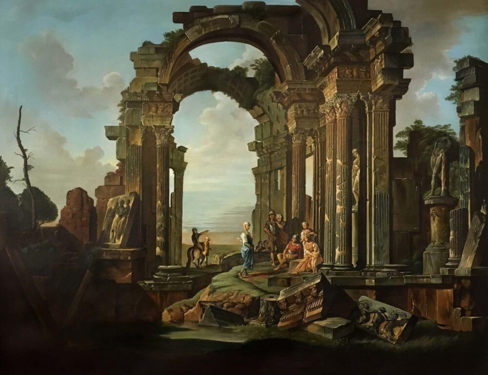 Architectural Capriccio with Roman Ruins