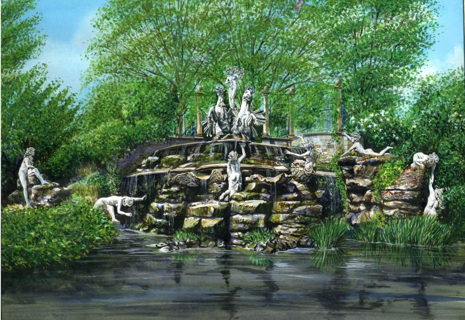 Fountain at York House Gardens