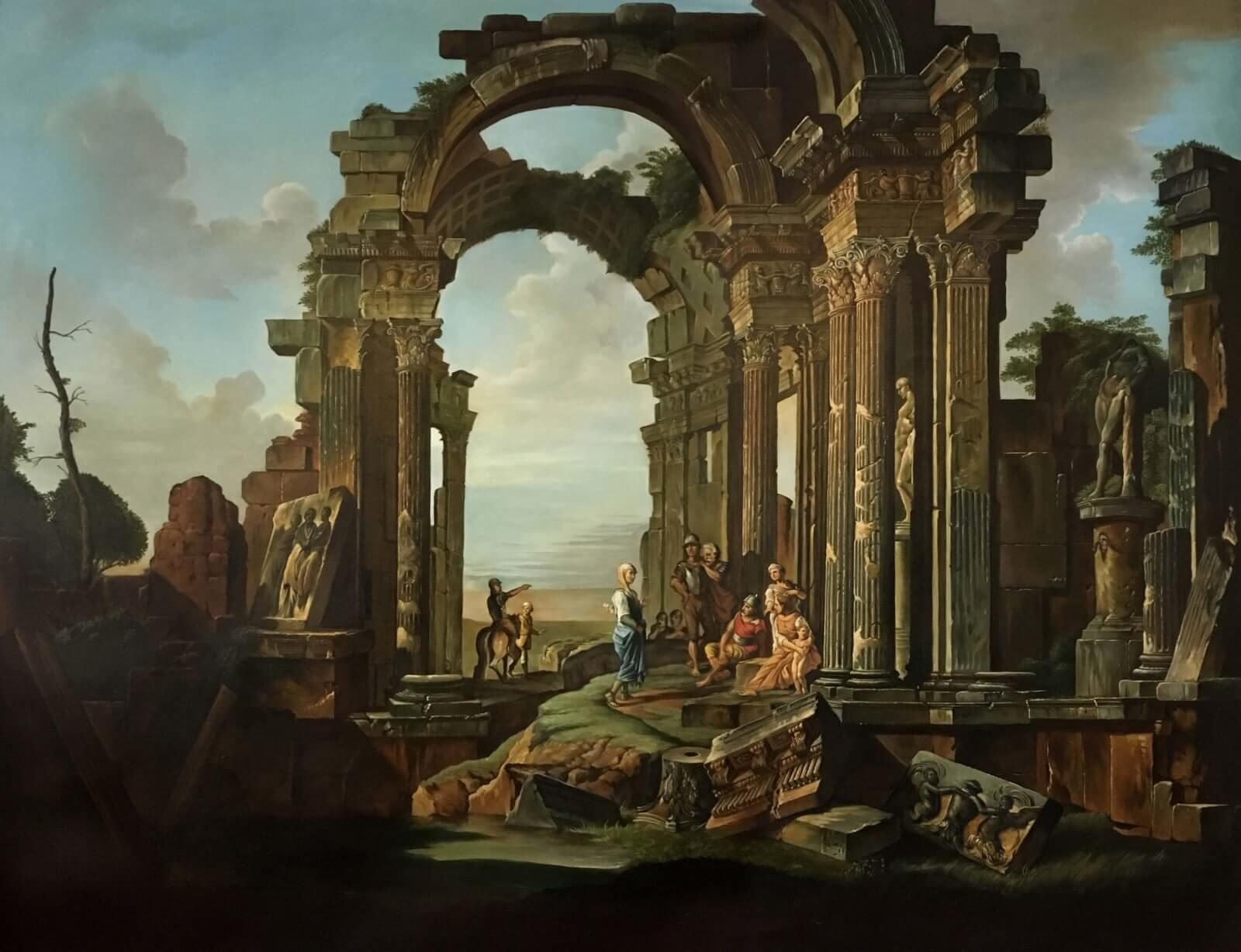Architectural Capriccio with Roman Ruins, Fred Fordham 2017